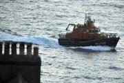 A lifeboat makes its way through the water - file picture