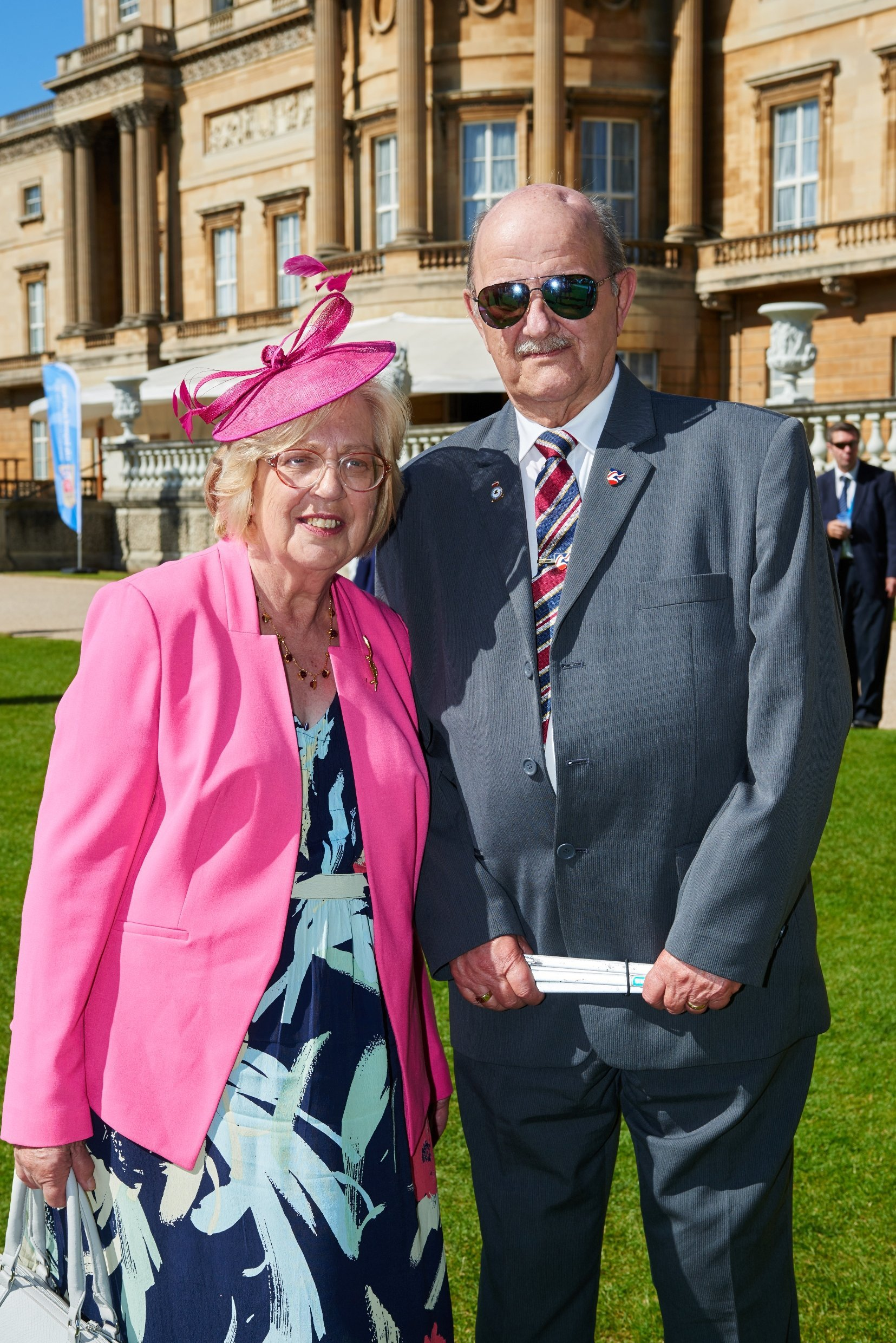 David Yeomans, 79, attended a Buckingham Palace garden party with his wife and more than 1,000 other veterans to celebrate Blind Veterans UK's 100 years of support to blind and vision-impaired ex-servicemen and women