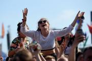 Music fans enjoy the first Wild Life music festival at Shoreham airport. Picture Russ Kirby