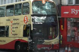 Two people left with life-threatening injuries and three other seriously injured in two bus crash