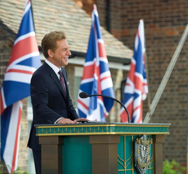 David Miscavige, leader of the church, at the launch of the new site.