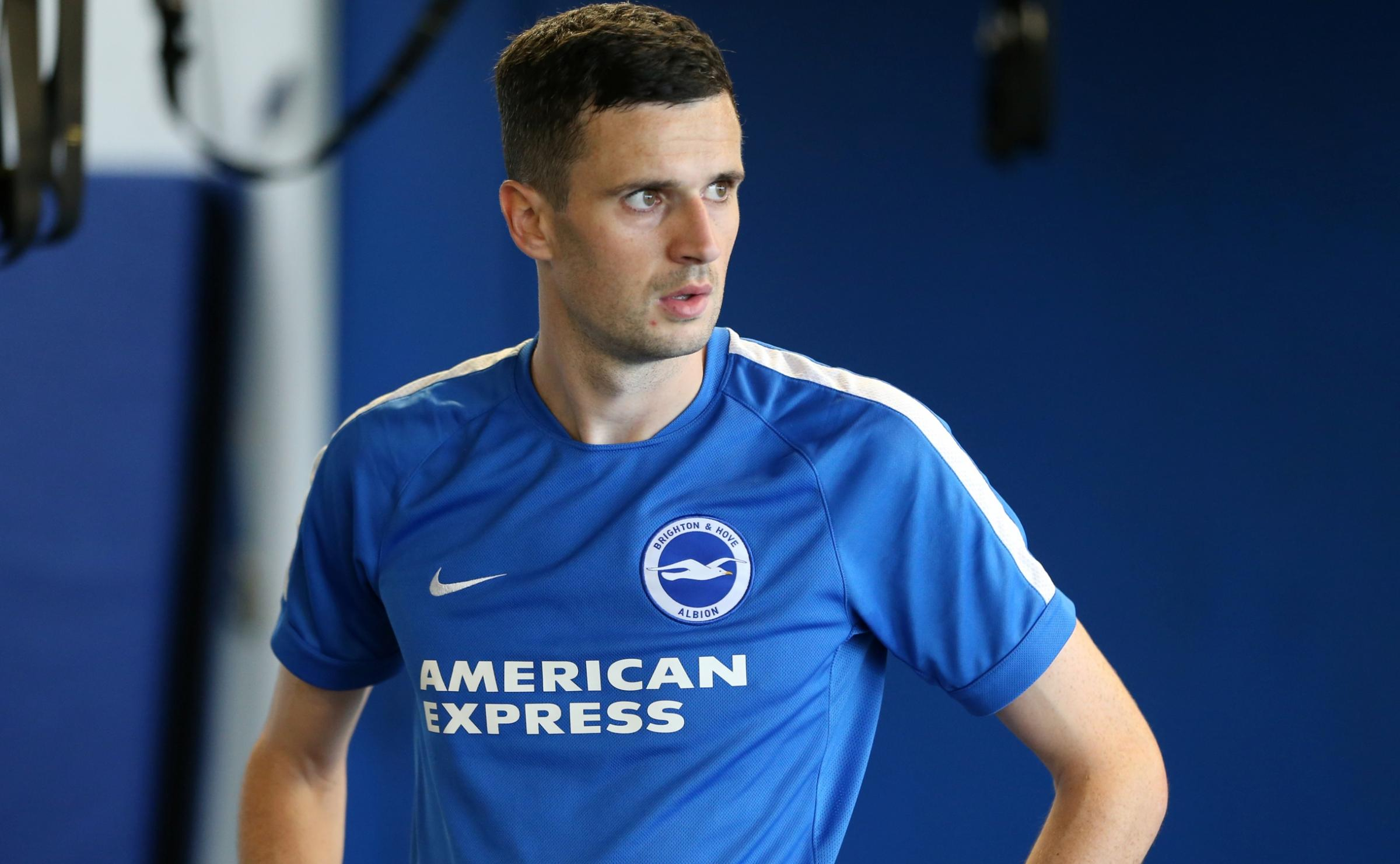 Jamie Murphy at Albion's training ground today. Picture by BHAFC/Paul Hazlewood