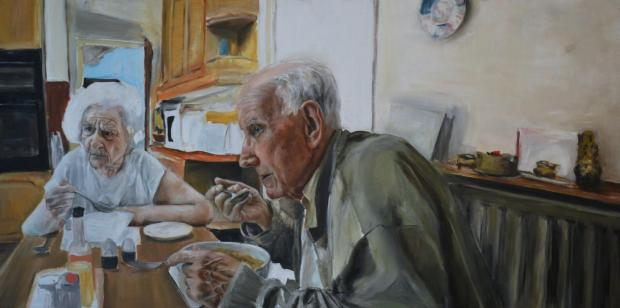 The Argus: Just After Noon, a portrait of Sophie Williams' grandparents, is just one of 55 to be exhibited in the National Portrait Gallery as part of a worldwide competition the BP Portrait Awards.
