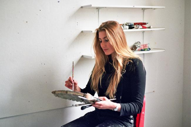 The University of Brighton student is studying Fine Art Painting and is due to start her third year of studies.