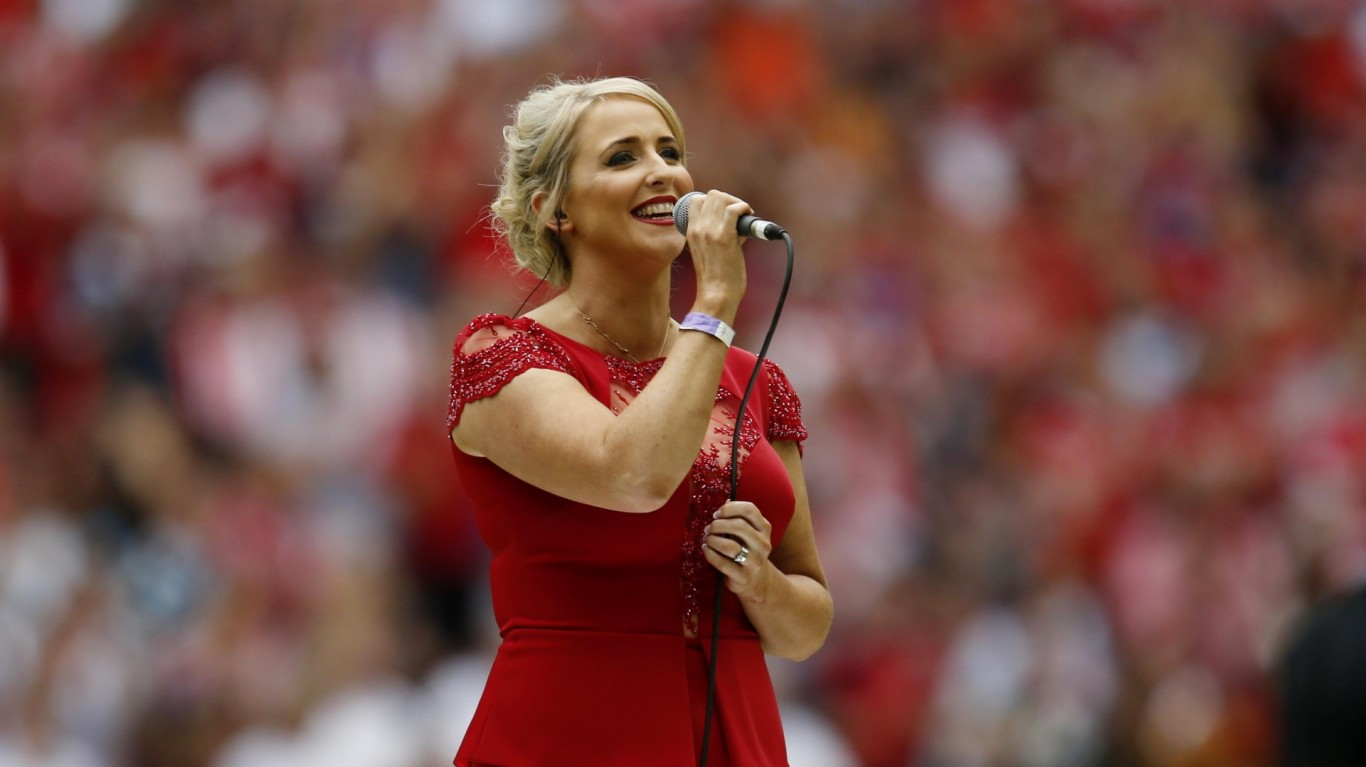 Rugby League player Danny Jones's brave widow Lizzie is climbing the singles charts with her heart-breaking rendition of Abide With Me