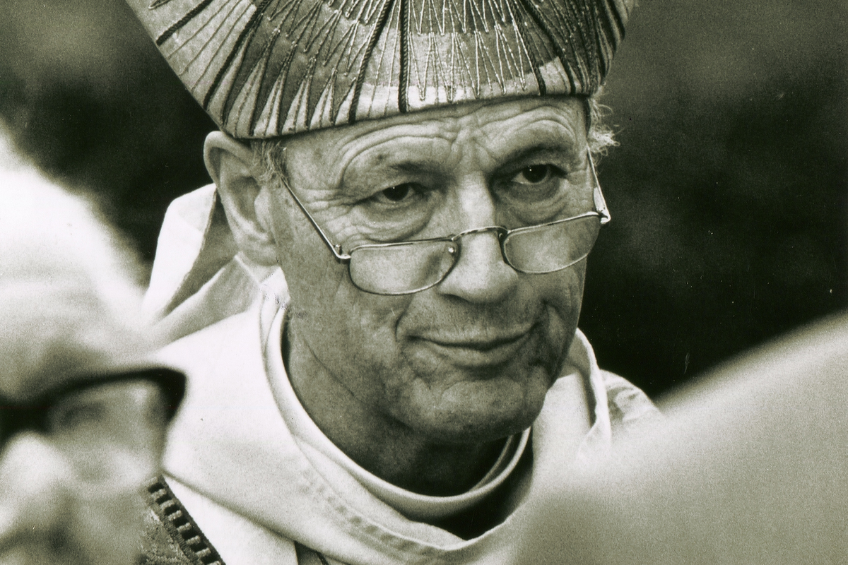 The former Bishop of Lewes Peter Ball pictured in 1992