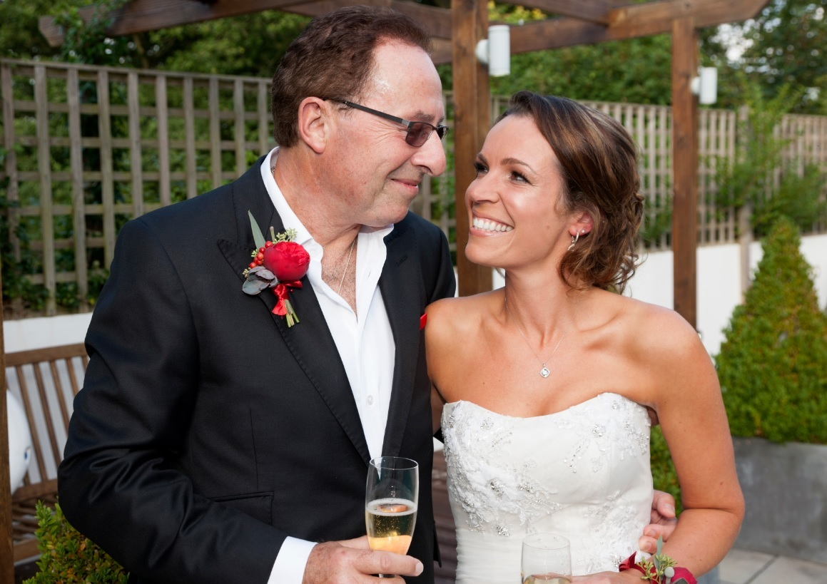 Peter James and his new wife Lara.  Picture: Graham Franks
