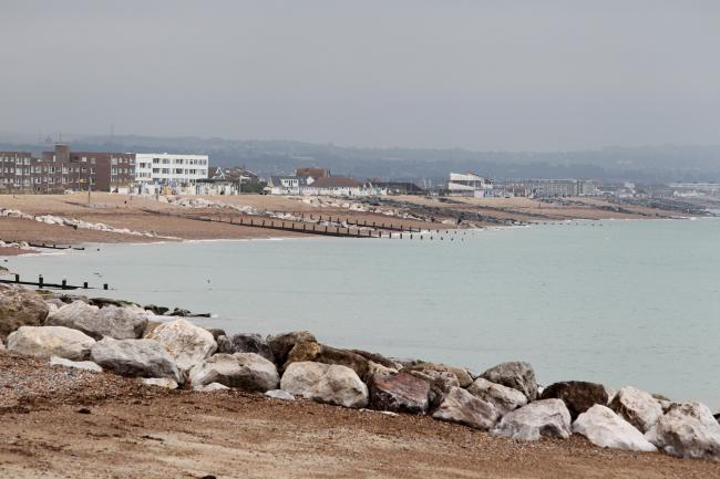 The seafront at Lancing was shut when sewage was pumped into the sea by Southern Water in 2012