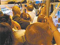 Rush-hour train services frequently mean uncomfortably crowded carriages for Brighton's commuters