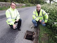 Andy Brooke, from East Sussex County Council, and maintenance officer Brian Young
