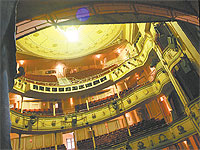The beautiful auditorium of the Theatre Royal