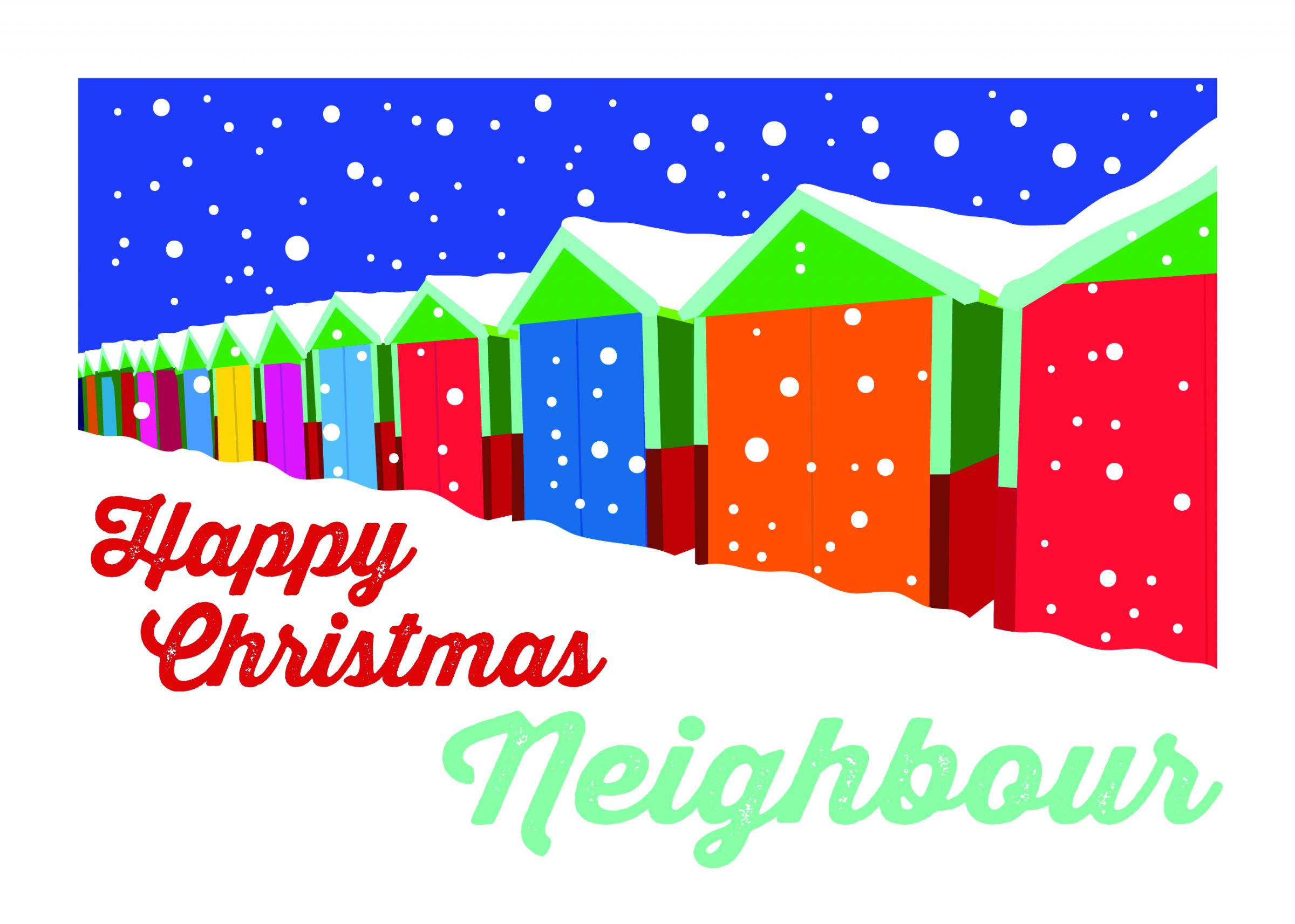 One of the Christmas cards produced for the Know My Neighbour campaign