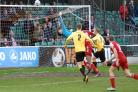 Hawks go close in their home defeat to Ebbsfleet. Picture by David Pillman