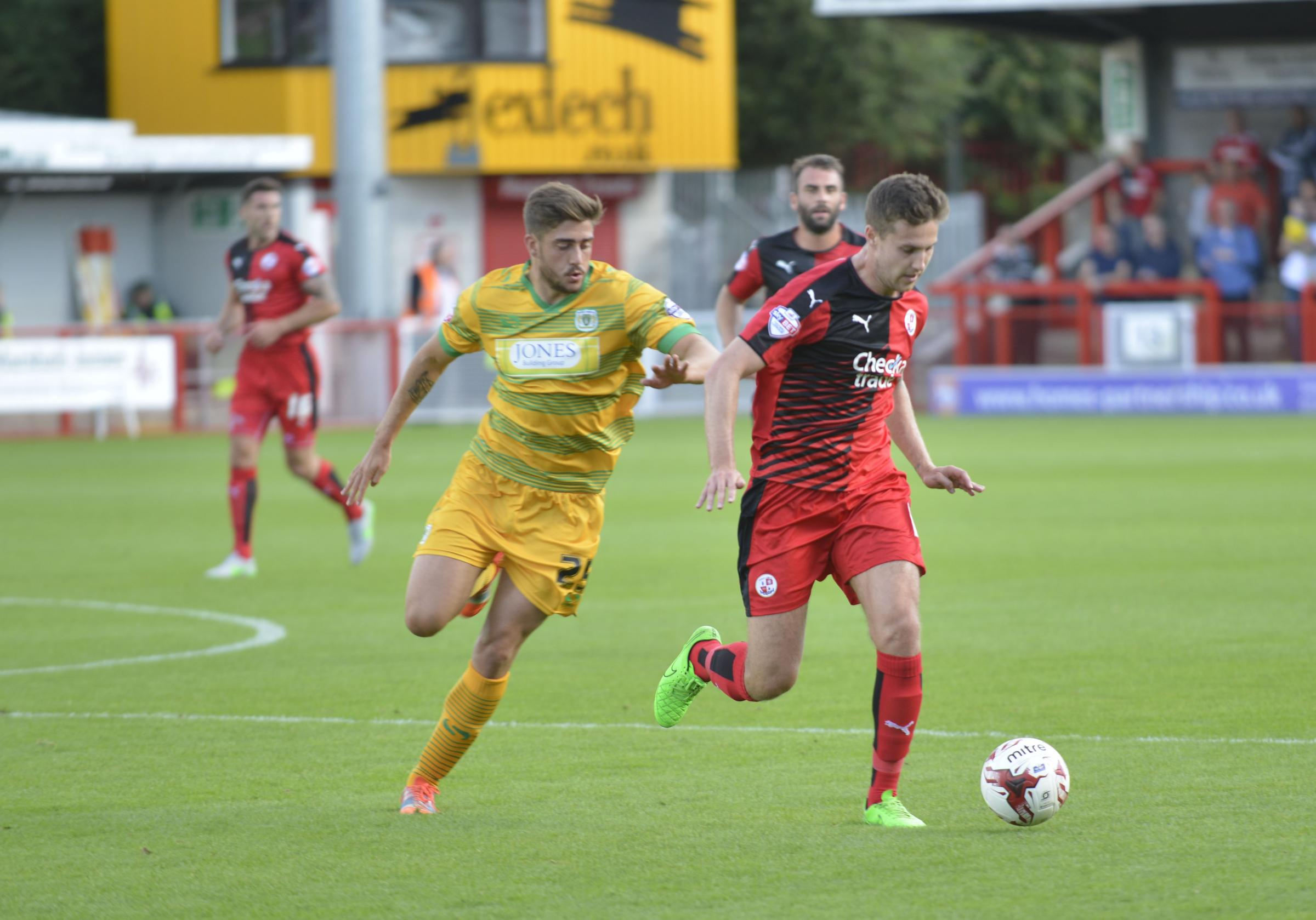 Conor Henderson in action for Crawley this season. Picture by Terry Applin