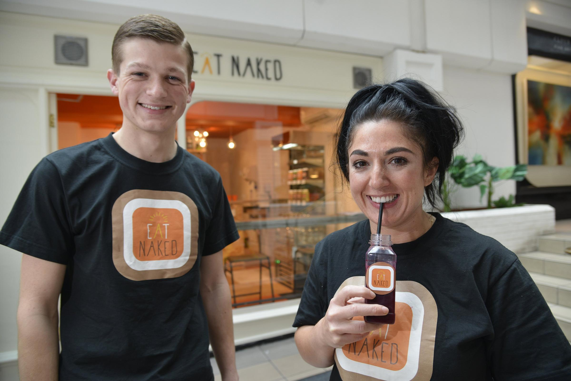 Ryan Brown and Stacie Stewart, owners of the Eat Naked clean eating deli and juice bar in East Street, Brighton Picture: Terry Applin