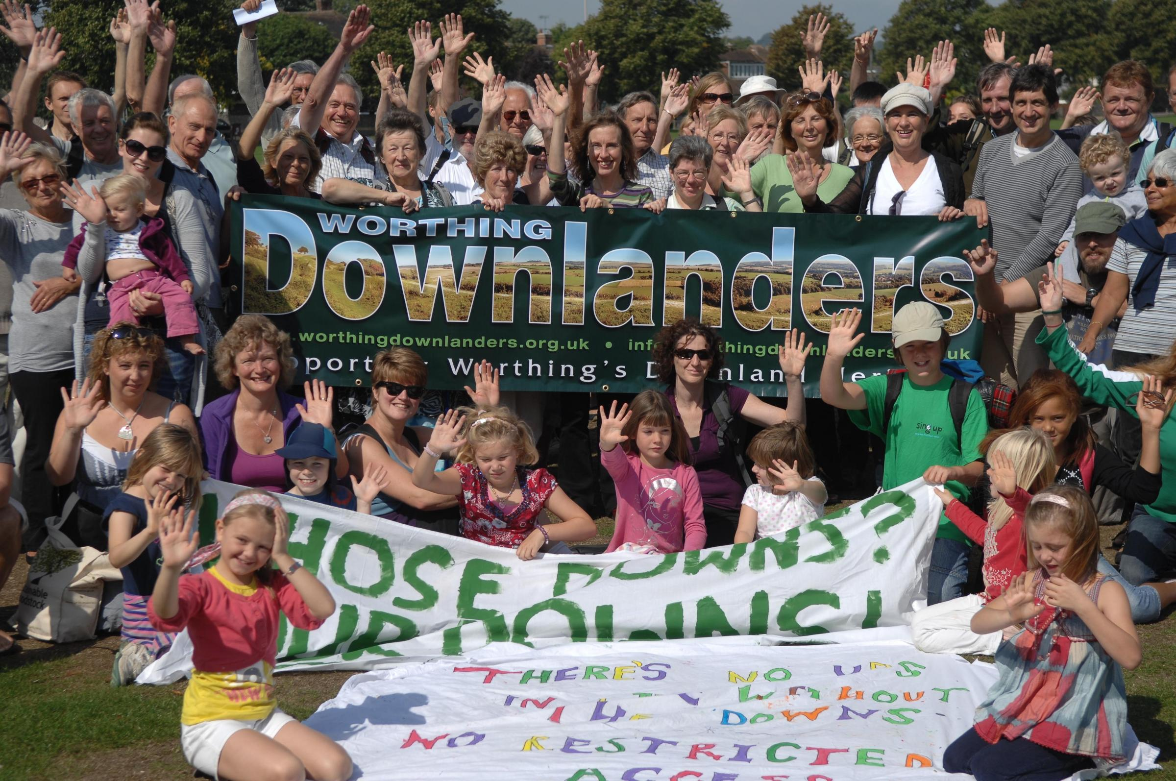 Country campaigners Worthing Downlanders can now celebrate after years of trying to preserve land near Cissbury Ring for public use.