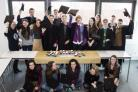 Some of the 36 Bhasvic students who have been offered a place at Oxford or Cambridge universities