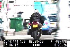 Motorcyclist caught popping a wheelie doing 87mph along Hove seafront banned from driving for 18 months