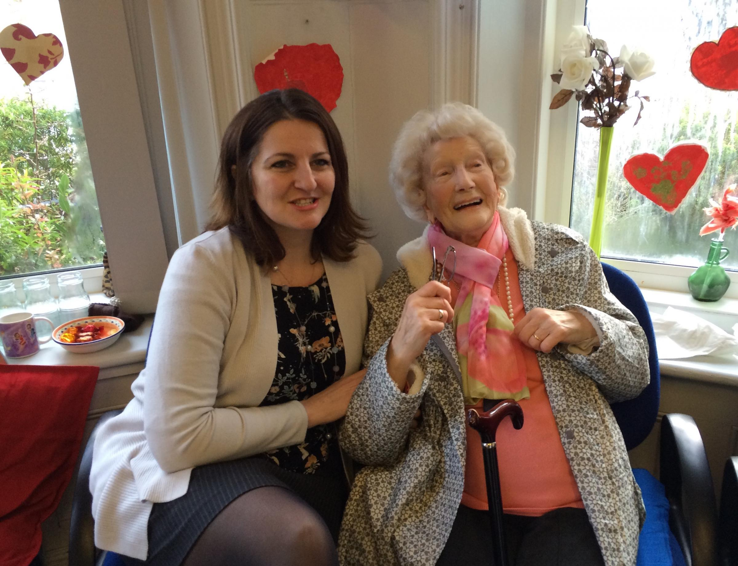 Eastbourne and Willingdon MP Caroline Ansell went back in time when she visited the 1940s themed Valentine's Ball at the Ivy House Day Centre