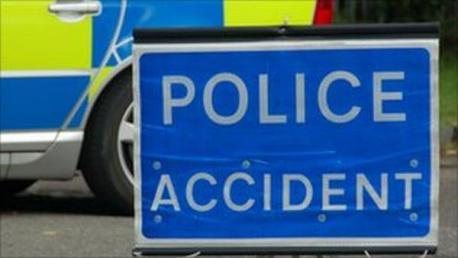 The A270 Old Shoreham Road is partially blocked after a crash involving a pedestrian and a car