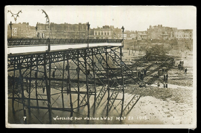 Damage from the 1913 Easter weekend storm in Worthing