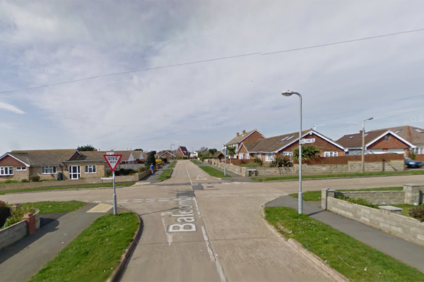 The Balcombe Road junction with Malines Avenue in Peacehaven.  Picture: Google Street View