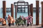 Three Score Dance Company performing at the West Pier.