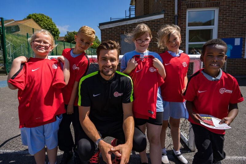 Russell Martin has high hopes for his Brighton-based football academy. He is pictured here at Whitehawk Academy by Kan Lailey