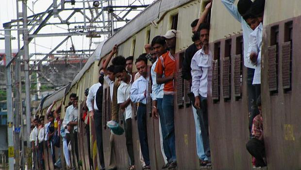 The Argus: Passengers crowded on a Mumbai train