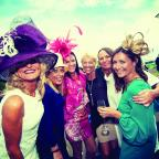 The Argus: Ladies who laugh: a group of womenenjoy Brighton Racecourse Ladies Day/Picture: Darren Cool