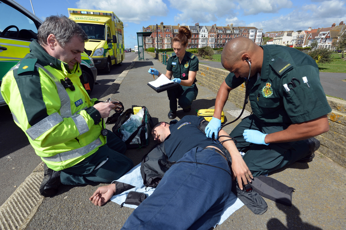 Paramedics at the scene of an incident