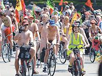 Cyclists show their distaste for rising oil prices