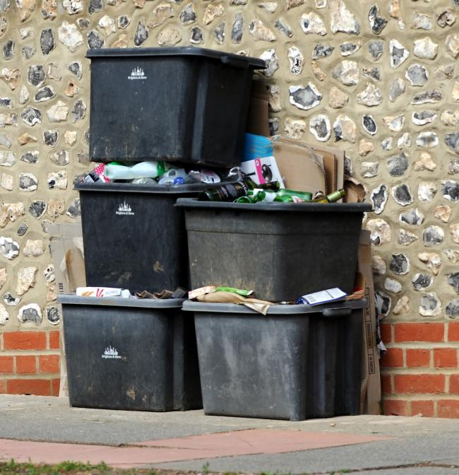Recycling rates in Brighton and Hove continue to decline despite new council schemes designed to improve the situation.