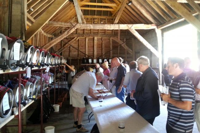 The ale festival at Amberley Museum in 2014