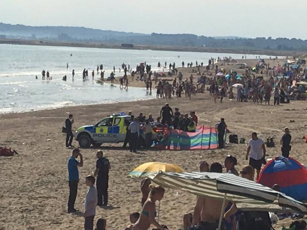 The Argus: The scene at Camber Sands, Rye, yesterday afternoonPicture: Natalja Taylor