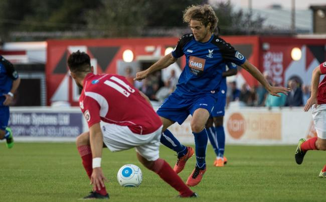 Sergio Torres in action for Whitehawk. Picture by David Hunt