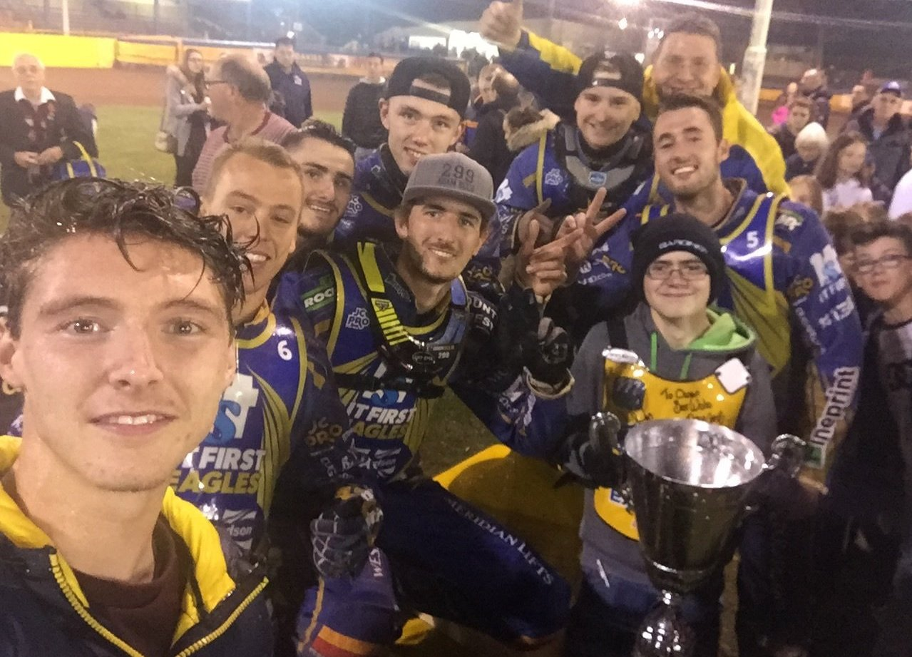 Eastbourne celebrate their Knockout Cup triumph