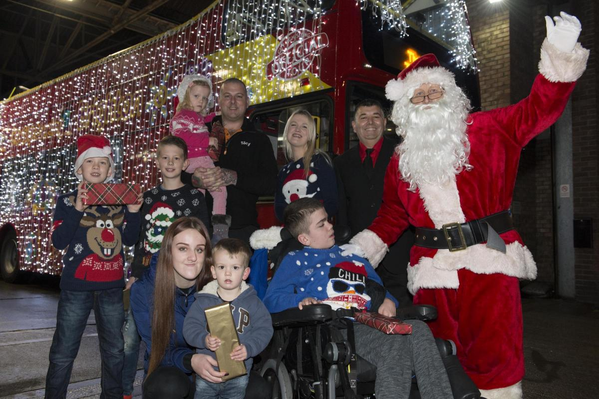 Thrill for sick boy with Sanfilippo syndrome as Father Christmas ...
