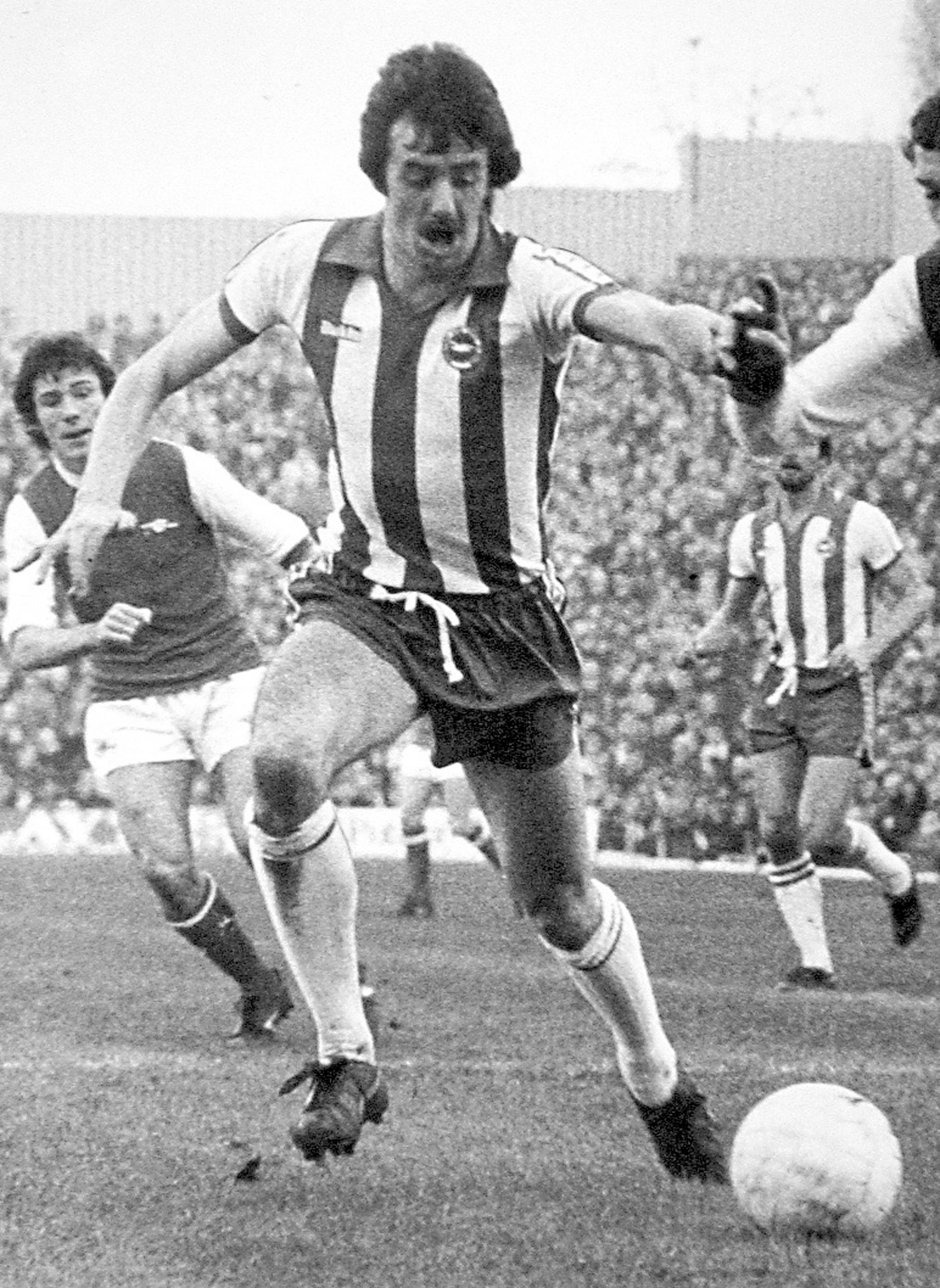 Mark Lawrenson in his playing days for Albion