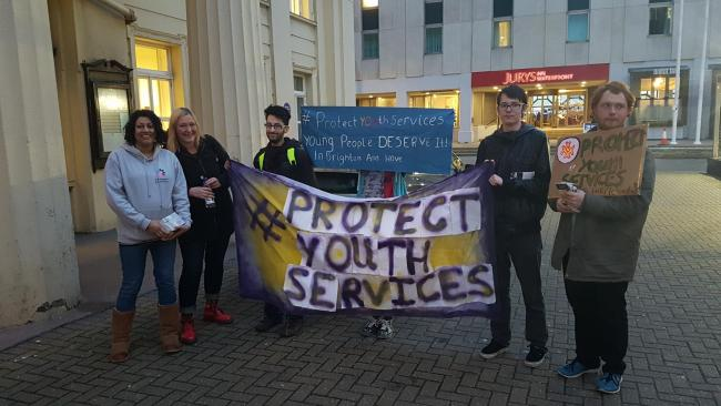 Protests against youth services cuts will continue this month
