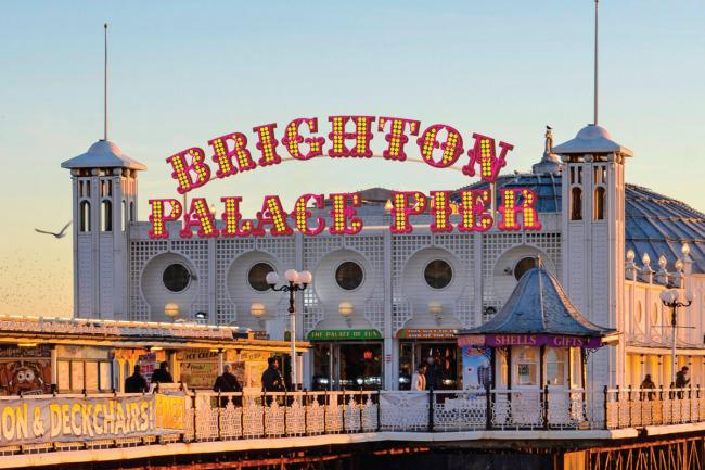 Picture shows the new illuminations which will be put on Brighton Palace Pier