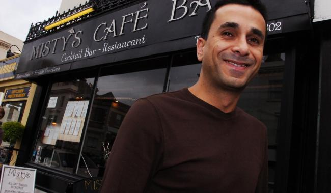 Owner Afshin Kianifard outside Misty's Cocktail Bar