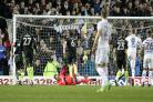 Paying the penalty. Chris Wood's late spot-kick condemns Albion to defeat at Leeds. Picture Richard Parkes