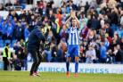 Centre of attention. Glenn Murray applauds the Amex crowd after his winner against Blackburn. Picture Simon Dack