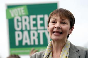 Green Party joint leader Caroline Lucas makes a speech in front of supporters during their party's election launch at the Avon Gorge Hotel in Bristol.  Picture: Andrew Matthews/PA Wire