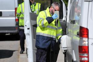 HMRC officers tested fuel in stopped vehicles to check it was legal Pictures: Allan Hutchings