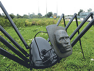 Scary spiders banished from A27 roundabout