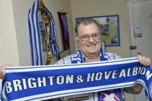 Bernie Dawes has supported and worked for Albion since 1938 and seen the most - 2650 - games..