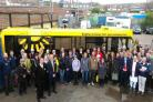 Staff and supporters celebrate launch of The Big lemon's new solar depot