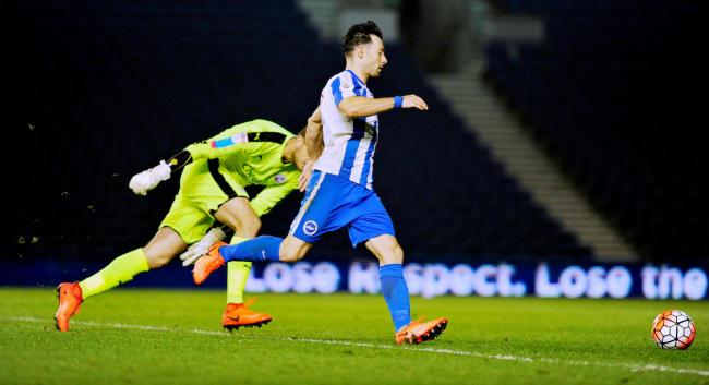 Richie Towell in action for Albion